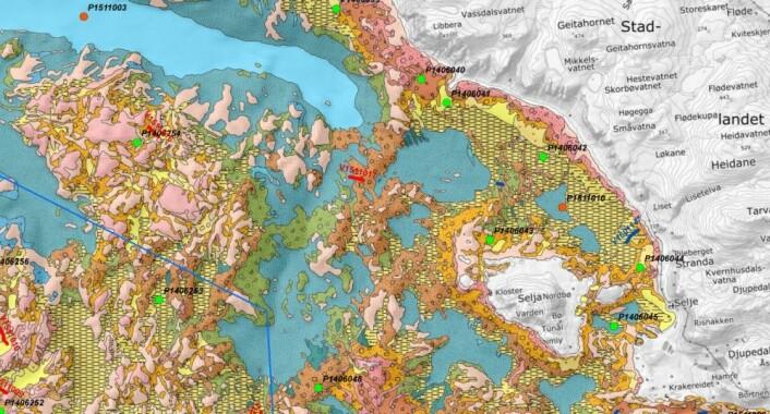 Her er ett av de nye sjøbunnskartene sør for Stadlandet, ved Selje i Sogn og Fjordane. Her kommer det godt fram at det er stor variasjon på havbunnen. (Foto: Gudmund Løvø)