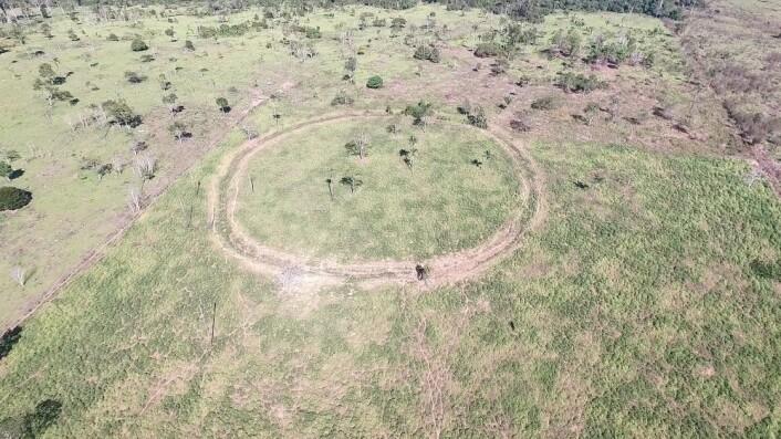 En rund jordvoll som ble laget før europeerne kom til kontinentet. (Bilde: José Iriarte)