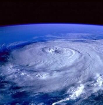Her ser vi orkanens øye. Enorme krefter knuser bygninger og dreper folk og dyr. (Foto: Pexels.com)