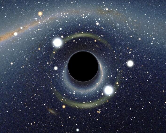 Slikt vil et sort hull bøye lyset rundt seg. (Foto: Alain R/CC BY-SA 2.5)