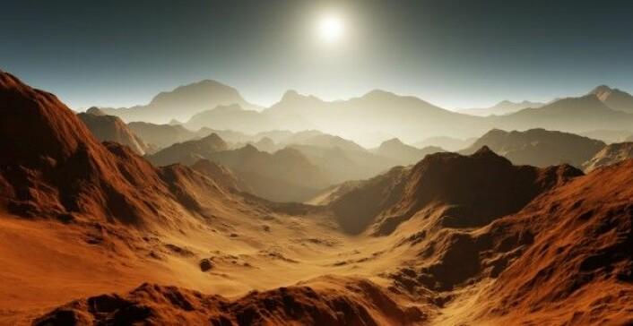 Mars er en kald planet, men det betyr ikke at mantelen er helt avkjølt. Faktisk siver det fortsatt varme fra planetens indre og opp til overflaten. (Foto: Jurik Peter / Shutterstock / NTB scanpix)