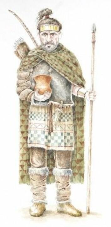 Slik kan de ha sett ut, innvandrerne som kom til De britiske øyer for 4500 år siden.(Illustrasjon: Manuel Rojo-Guerra/Luis Pascual-Repiso)