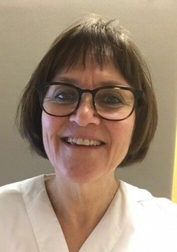 Mari Landsverk Hagtvedt er jordmor og fagutvikler ved Sykehuset i Vestfold. (Foto: Privat)
