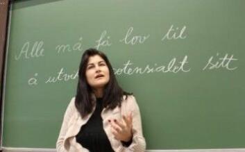 Alle barn bør få lov til å utvikle potensialet sitt, mener professor Ella Idsøe. (Foto: Bjarne Røsjø/UiO)