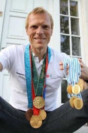 Eskild Ebbesen med medaljehøsten frem til OL 2012: 3 OL-gull, en OL-bronse og 6 VM-gull. (Foto: Brian Martin Rasmussen)