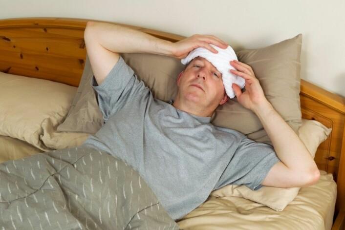 """Noen virus liker ikke de høye temperaturene ved feber. Det gjør ikke den som er syk heller. (Foto: <a href=""""http://www.colourbox.no"""">www.colourbox.no</a>)"""