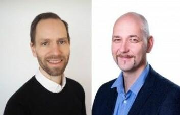 Petroleumsforskerne Jan Ludvig Vinningland fra forskningsinstituttet IRIS og Aksel Hiorth fra Det nasjonale senteret for økt oljeutvinning (IOR) ved Universitetet i Stavanger. (Foto: IRIS/UiS)
