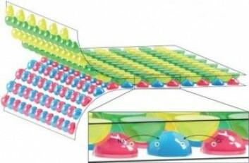 """Forskerne har forsøkt å folde sammen ark med gele-klatter slik at energitettheten blir så høy som mulig. (Foto: T. Schroeder <span class=""""amp"""">&amp;</span> A. Guha)"""