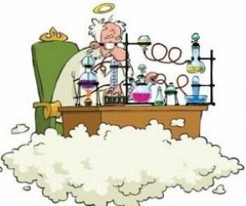 Naturvitenskapen får aldri avskaffet Gud, sier de forskerne vi har snakket med. (Grafikk: Mette Friis-Mikkelsen)