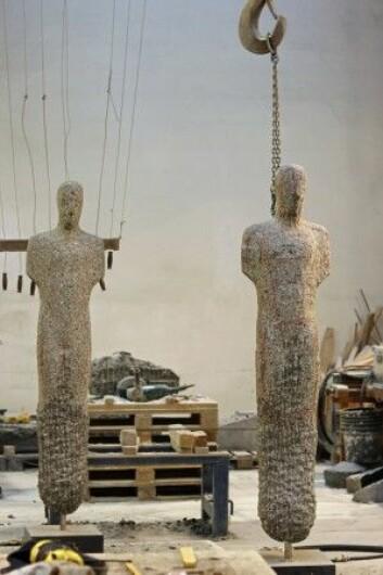 I atelieret på Torshov i Oslo lager Nico Widerberg blant annet skulpturer. (Foto: Ida Kvittingen, forskning.no)