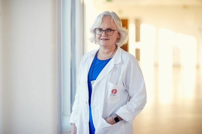 Det er lite penger å tjene på å være med i legemiddelstudier, ifølge overlege Heidi Glosli. (Foto: Erik Norrud)