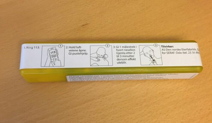 Slik se pakningen ut, med instrukser for hvordan det skal gjøres. (Foto: Åsmund H. Eikenes / Framtida.no)