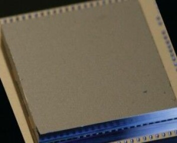 Selve kvanteprosessoren ser ikke så imponerende ut. Men det er her magien skjer. (Foto: IBM)
