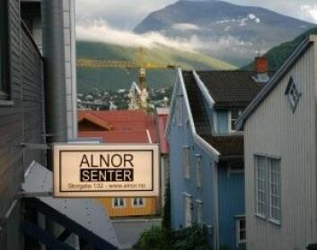 Alnor-moskéen i Tromsø skal være verdens nordligste moské. Når fastemåneden Ramadan er om vinteren og muslimer skal faste fra soloppgang til solnedgang, blir det vanskelig. Løsningen muslimer i Nord-Norge bruker er å følge fastetidene i Mekka, ifølge NRK Troms. (Foto: Osopolar/Wikimedia Commons)