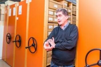 Jon Anders Risvaag fra Institutt for arkeologi og kulturhistorie ved NTNU Vitenskapsmuseet. (Foto: Julie Gloppe Solem, NTNU)