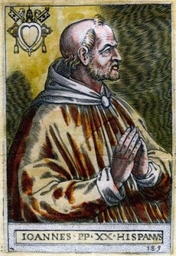 Pave Johannes XXI ville ikke ha norske mynter. (Illustrasjon: Wikimedia Commons)