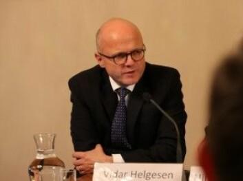 - Endringene skjer raskt, men politiske beslutningsprosesser er ofte ikke så raske, sier Vidar Helgesen.
