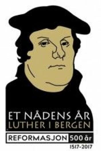 … og slik viser Den norske kirken fram Luther i sin logo for fest og fordypning rundt Luther i år.