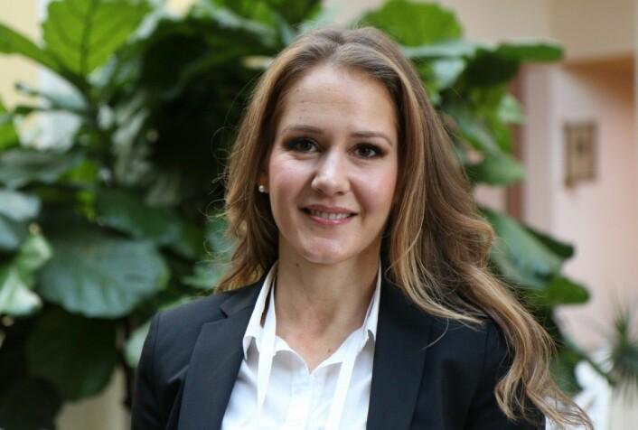 Heidi Borgeraas presenterte resultatene sine på Obesity Week, verden største konferanse om fedmeforskning. (Foto: Ingrid Spilde)
