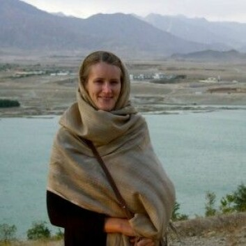 Anne Stenersen under feltarbeid i Afghanistan i 2009. (Foto: Privat)