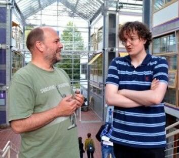 Christian A. Klöckner og Kristoffer S. Fjællingsdal. (Foto: Vibeke Pettersen / NTNU)