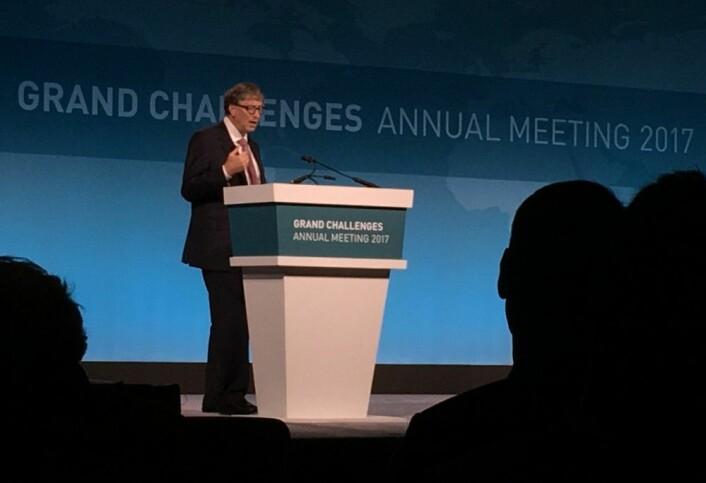 Bill Gates mente de hadde hatt rett da de startet Grand Challenges in Global Health: Det går virkelig an å gjøre noe med problemene i verden ved hjelp av forskning.  (Foto: Ingrid Spilde)