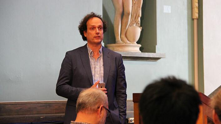Musikkforsker Arnulf Mattes med kollegaer presenterte de siste fem årenes forskning på Fartein Valens musikk på Nasjonalgalleriet. (Foto: Fillip-André Baarøy)
