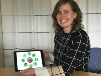 Kari-Anne Bottegaard Næss ved Universitetet i Oslo leder et stort prosjekt som skal måle effekten av språkstimulering av barn med Downs syndrom og deres klassekamerater. Forskerne har blant utviklet en app i prosjektet. (Foto: Siw Ellen Jakobsen)