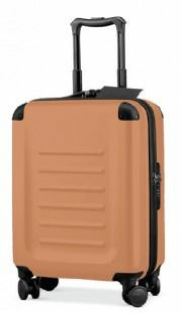 Denne kofferten virket mindre og ble foretrukket når deltakerne skulle få plass til den i takhyllen over flysetet. (Foto: JCR/Hagtvedt/Brasel)