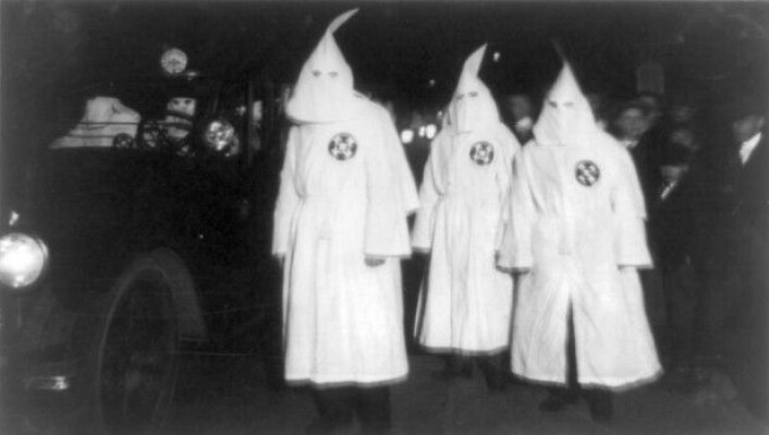 Ku Klux Klan-medlemmer i Virginia, 1922. (Foto: Library of Congress, USA)