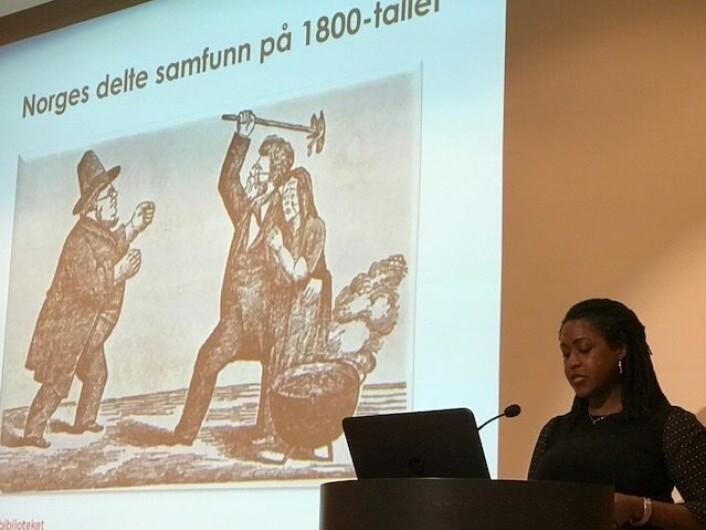Michelle Tisdel er forskningsbiblioteker ved Nasjonalbiblioteket. Hun mener Eilert Sundt var den første norske aksjonsforsker og oppdragsforsker og at privatarkivet hans, hvor mye er digitalisert, er en gullgruve for forskere. (Foto: Siw Ellen Jakobsen>)