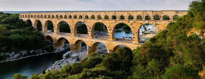 Pont du Gard i Sør-Frankrike. Dette er en berømt romersk akvedukt som ble bygget i det første århundret e.Kr. (Foto: Benh LIEU SONG/CC BY-SA 3.0)