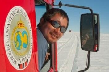 Seniorforsker Kenichi Matsuoka fra Norsk Polarinstitutt. (Foto: Peter Leopold, Norwegian Polar Institute)