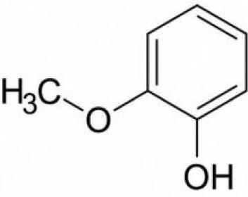 """Slik ser guajakolmolekylet ut når en kjemiker tegner det. (Tegning: Karlsson <span class=""""amp"""">&amp;</span> Friedman/Scientific Reports)"""