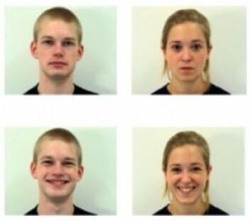 De smilende menneskene virket hyggeligere og mer kompetente, ifølge forsøkspersonene. (Foto: Amsterdam Dynamic Facial Expression Set)