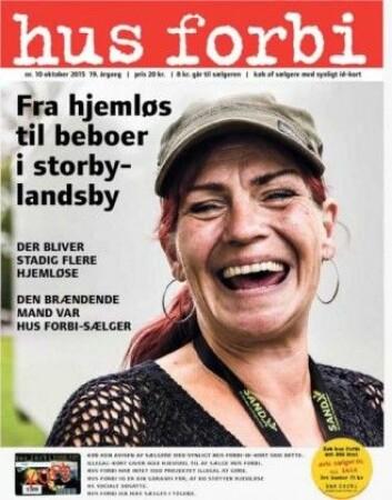 Det er omkring 2200 registrerte Hus Forbi-selgere i Danmark, og de tjener ti kroner per solgt avis. (Foto: husforbi.dk)