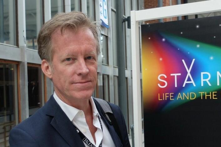 Curt Rice, rektor ved Høgskolen i Oslo og Akershus, var på plass i Trondheim Spektrum under Starmus-festivalen. (Foto: Eivind Torgersen)