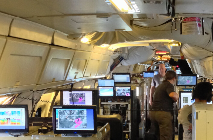 NASA-flyet er gjort om til en forskningsstasjon.<em></em>(Foto: Ken Shiffer/NASA)