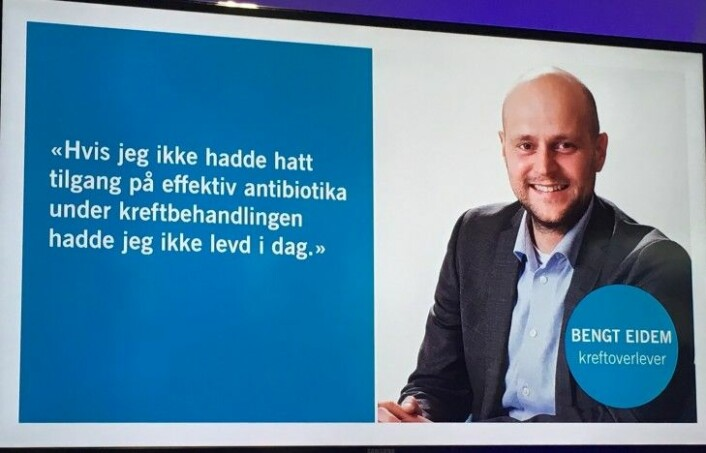 Bengt Eidem har overlevd kreft to ganger, og stiller opp i Kreftforeningens kampanje for mindre antibiotikabruk.<br>(Foto: Anne Lise Stranden/forskning.no)