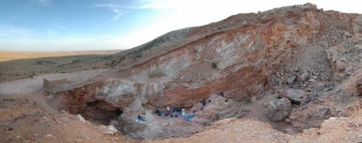 Utgravningsstedet i Marokko. (Foto: Shannon McPherron, MPI EVA Leipzig)