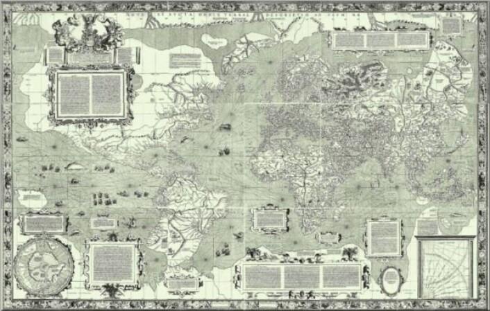 Mercators verdenskart fra 1569. (Foto: Wikipedia)