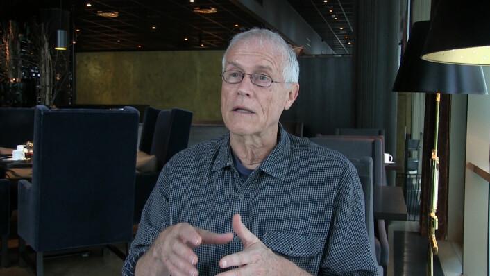 Gründer Paul Hawken, som står bak Drawdown-prosjektet. (foto: Lasse Biørnstad/forskning.no)