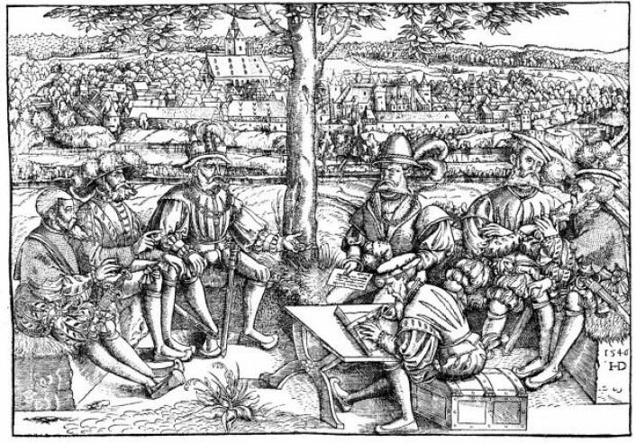 Krigsråd under Den schmalkaldiske krigen. (Foto: Wikimedia Commons)