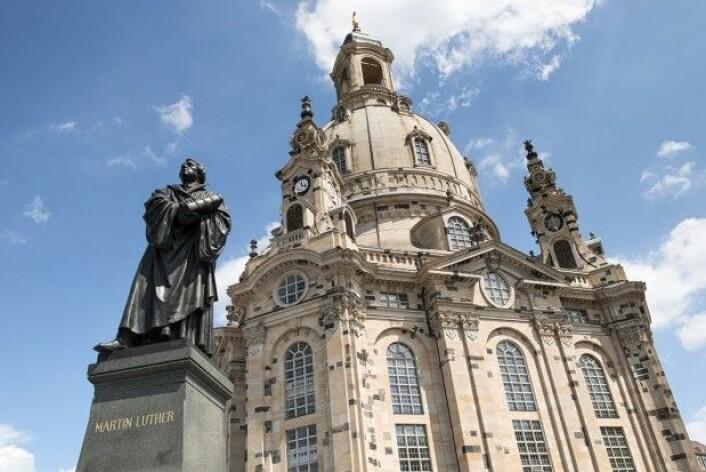 Martin Luther var vel ikke utelukkende en mann som søkte kompromisser. Her står stauen av han utenfor Frauenkirche i Dresden, Tyskland (Foto: Shutterstock / NTB scanpix)