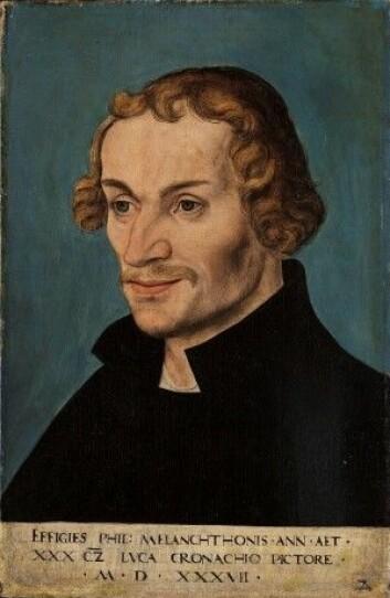 Augsburg-bekjennelsen ble skrevet av Luthers samarbeidspartner Philipp Melanchthon. (Maleri: Lucas Cranach den eldre)