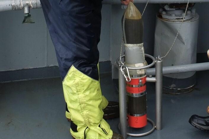 Da forskning.no var med forskerne for å ta prøver fra KV «Svalbard», var det så mye plankton i vannet at det nesten ikke var plass i prøvetanken. (Foto: Eivind Torgersen)