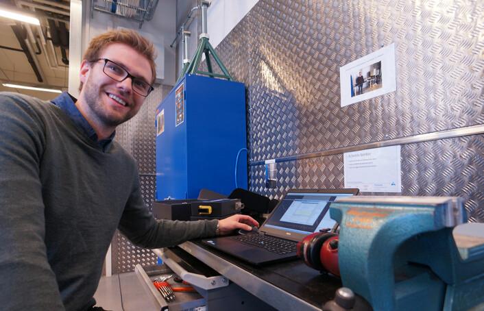 Joar Molvær arbeider nå i Kongsberg Automotive, men deltok i kurset <em>Eksperter i team</em> da han var student på NTNU. Foto: Arnfinn Christensen, forskning.no)